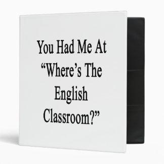 """Usted me tenía en donde está la sala de clase carpeta 1"""""""