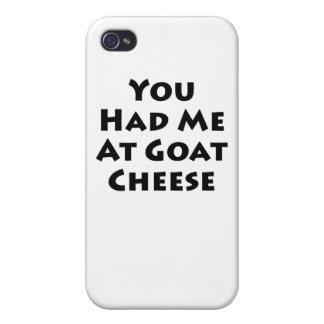 Usted me tenía en el queso de cabra iPhone 4/4S carcasas