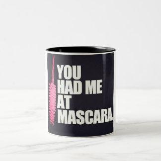 Usted me tenía en el rimel taza de café de dos colores