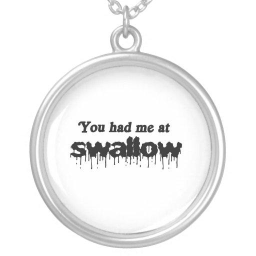Usted me tenía en el trago collares personalizados
