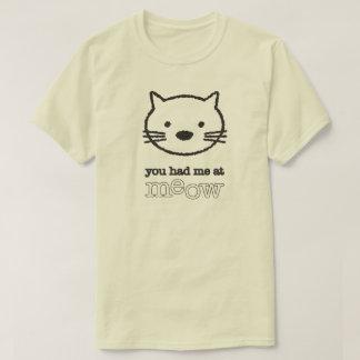 Usted me tenía en la camiseta básica de los