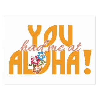 ¡Usted me tenía en la hawaiana! postal