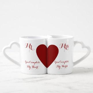 Usted me termina sistema de la taza de los pares tazas para parejas