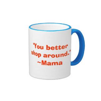 Usted mejora hace compras alrededor taza adaptable