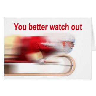Usted mejora tiene cuidado la tarjeta de Navidad