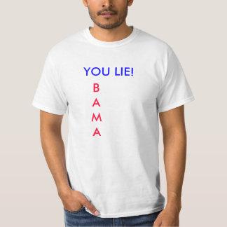¡USTED MIENTE! Camiseta de Obama