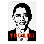 ¡Usted miente! (Obama) Felicitacion