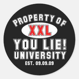 ¡Usted miente! Universidad Pegatina Redonda
