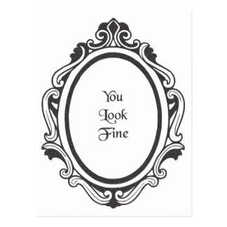 Usted mira muy bien (el espejo) postales
