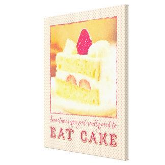 Usted necesita a veces realmente comer la torta de impresion de lienzo