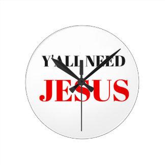 USTED NECESITA EL EJEMPLO DEL TEXTO DE JESÚS RELOJ REDONDO MEDIANO