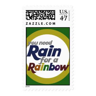 Usted necesita la lluvia para un arco iris sello postal