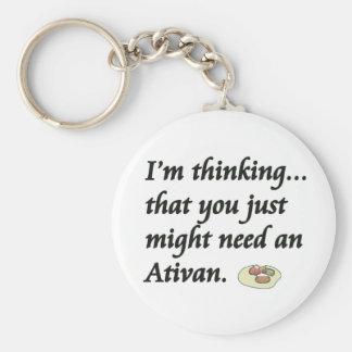 ¿Usted necesita un Ativan? Llavero Redondo Tipo Pin