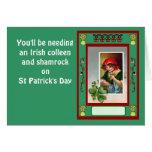 Usted necesitará una Colleen y un trébol irlandese Tarjetas