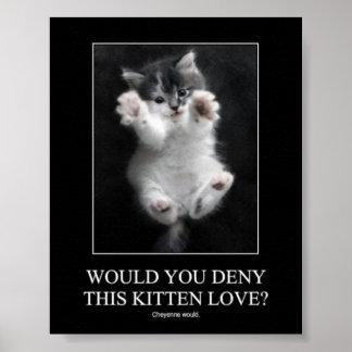 ¿Usted negaría este amor del gatito? Poster
