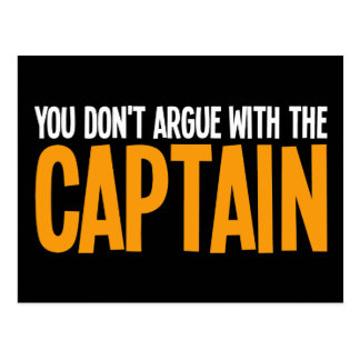 Usted no discute con el capitán postal