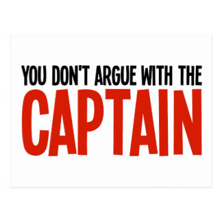 Usted no discute con el capitán postales