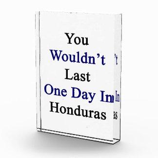 Usted no duraría un día en Honduras