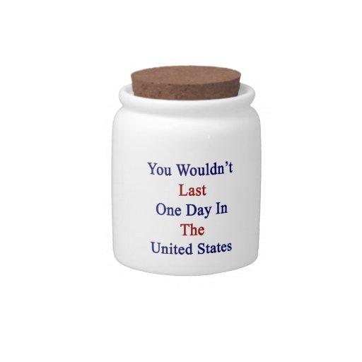 Usted no duraría un día en los Estados Unidos Platos Para Caramelos