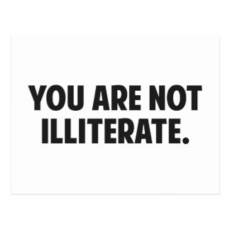 Usted no es analfabeto postales