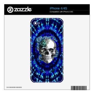 Usted no es aquí cráneo color de rosa trippy en me calcomanías para iPhone 4S