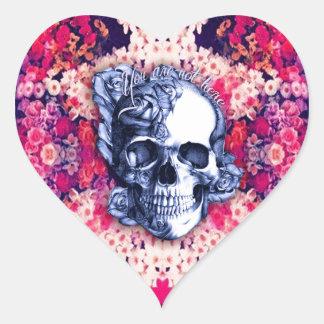 Usted no es aquí día de las ilustraciones muertas pegatina en forma de corazón
