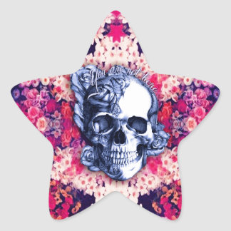 Usted no es aquí día de las ilustraciones muertas pegatina en forma de estrella