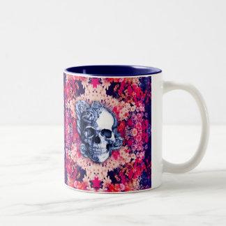 Usted no es aquí día de las ilustraciones muertas taza de café de dos colores