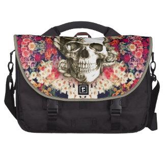 Usted no es aquí día del arte floral muerto bolsas para portatil