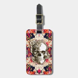 Usted no es aquí día floral del cráneo muerto etiquetas maletas