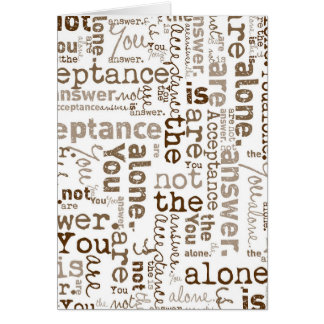 Usted no es collage solo de la palabra tarjeta de felicitación
