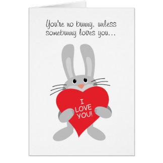 Usted no es ningún conejito, a menos que los amore felicitaciones