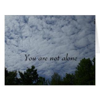 Usted no es nubes de tormenta solas tarjeta de felicitación grande