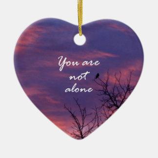 Usted no es solo adorno de cerámica en forma de corazón