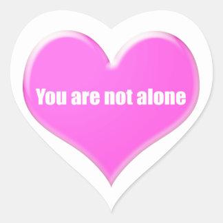 Usted no es solo pegatina en forma de corazón