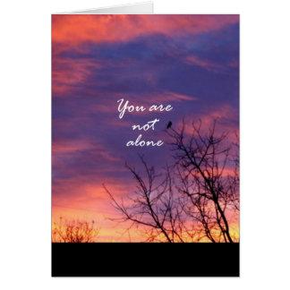Usted no es solo tarjeta de felicitación