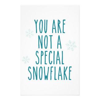 Usted no es un copo de nieve especial papeleria de diseño