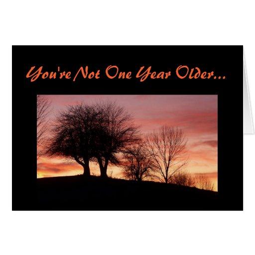 Usted no es una tarjeta de felicitación más vieja