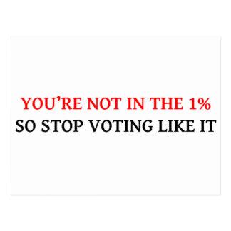 USTED no está EN el 1 ASÍ QUE PARE el VOTAR COMO Tarjetas Postales