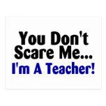 Usted no me asusta Im un profesor azul y negro Postales