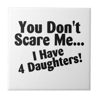 Usted no me asusta que tengo 4 hijas azulejo ceramica