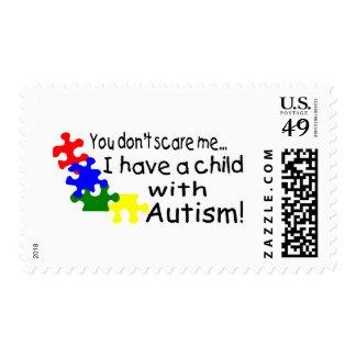 Usted no me asusta que tengo un niño con autismo timbre postal