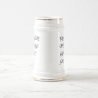 Usted no puede anotar apagado una cerveza sino que jarra de cerveza