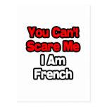 Usted no puede asustarme… francés tarjeta postal