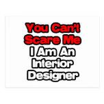 Usted no puede asustarme… interiorista tarjeta postal