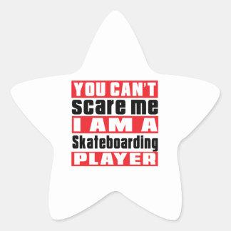 Usted no puede asustarme los diseños que andan en pegatina en forma de estrella