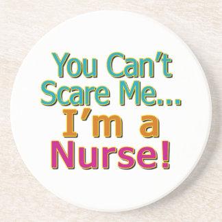 Usted no puede asustarme, oficio de enfermera posavasos cerveza