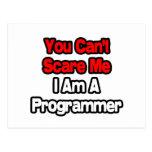Usted no puede asustarme… programador tarjeta postal