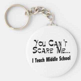 Usted no puede asustarme que enseño a la escuela s llavero personalizado