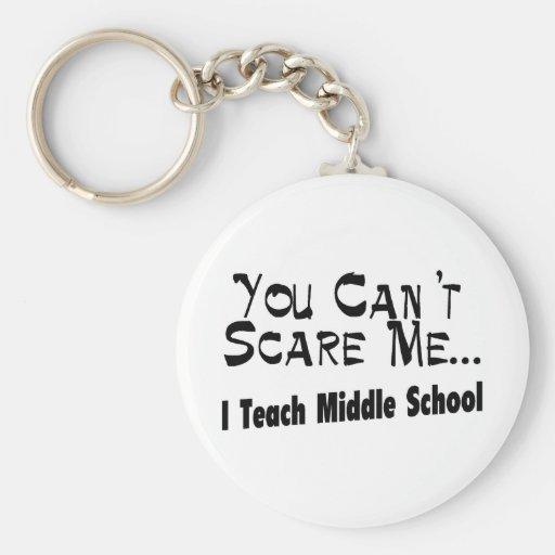 Usted no puede asustarme que enseño a la escuela s llavero redondo tipo pin